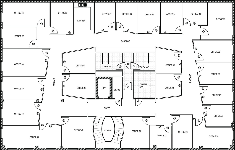 3 Bedroom Floor Plan With Dimensions Villa Floor Plans